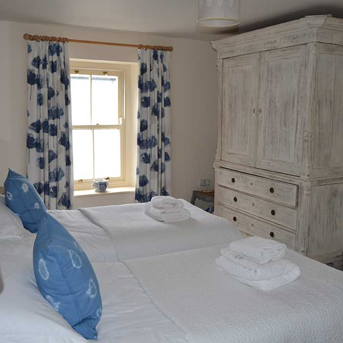Bedroom in a great cottage by the sea